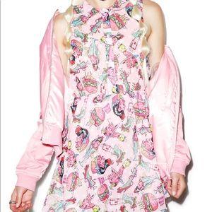 Iron fist deaths diner pink mini dress